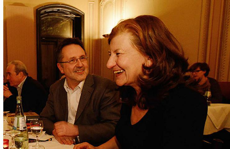 Rainer Moritz und Ursula März © Gunter Glücklich